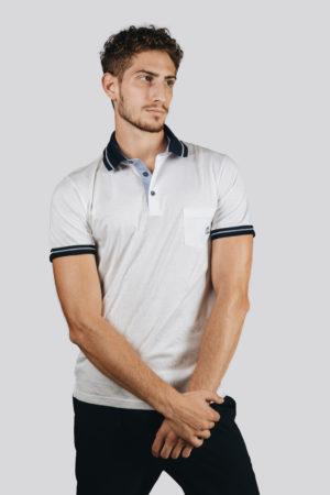 Polo Jersey Oblò Bianco | Maglificio Vela Blu